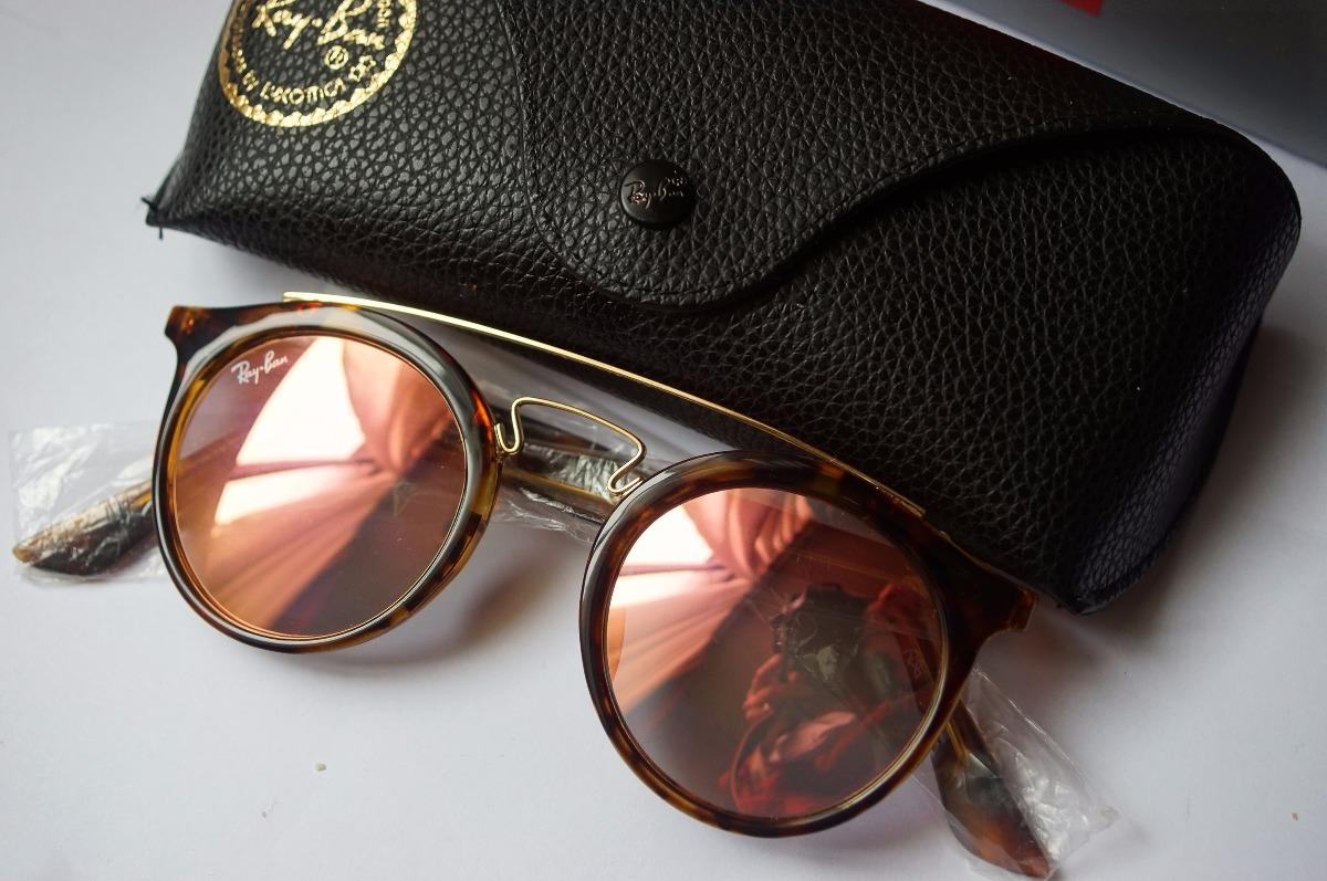 Gafas Gatsby De Sol Ray Ban Rb4256 Espejada Rosa Originales ... 295385fdb1a