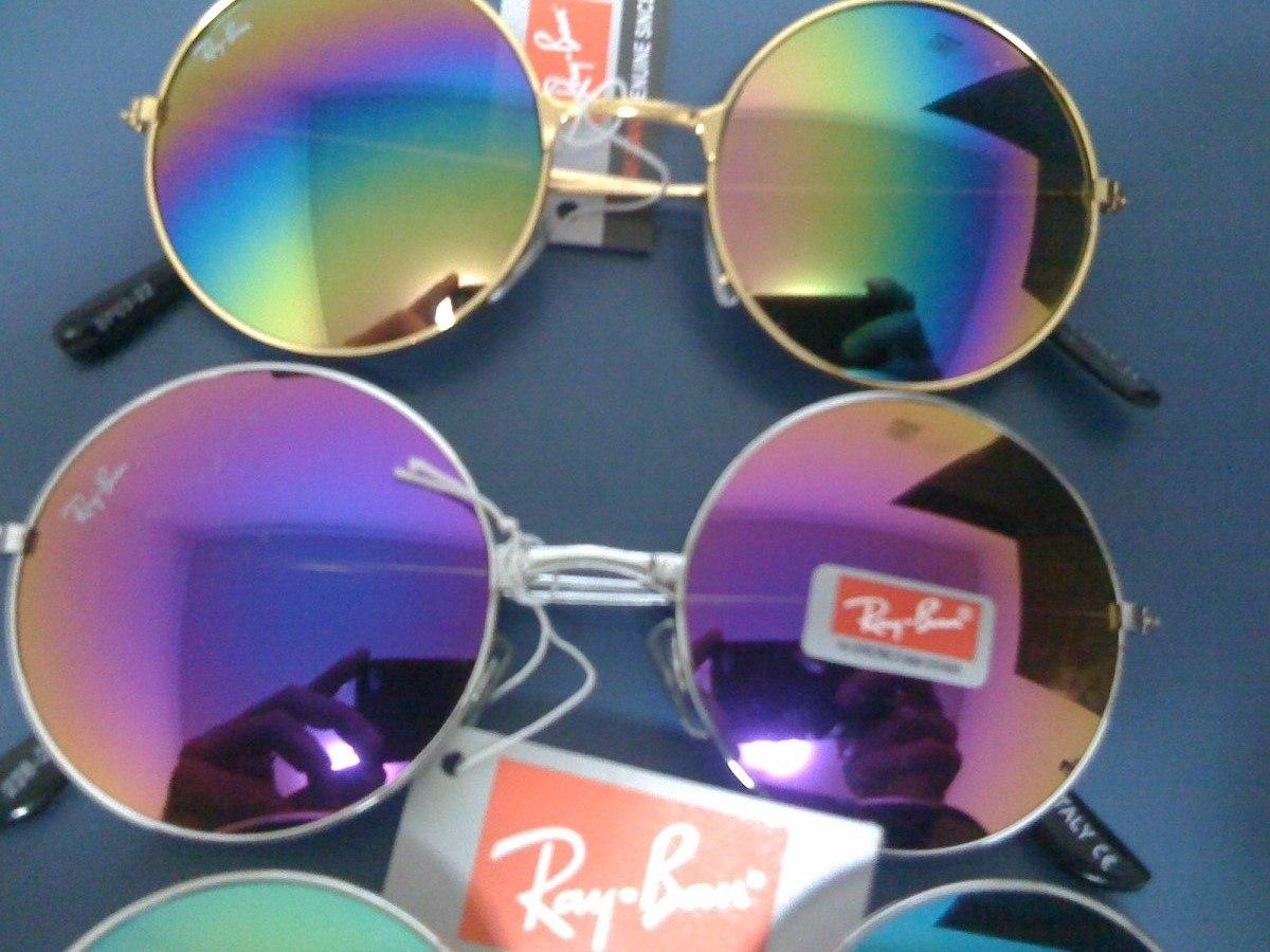 4aa4fbdc1c45e Carregando zoom... kit 6 oculos de sol r. b. round redondo lentes coloridas