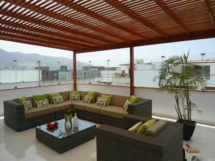 Sol y sombra policarbonato techo terraza s 1 00 en for Arredi per terrazzo