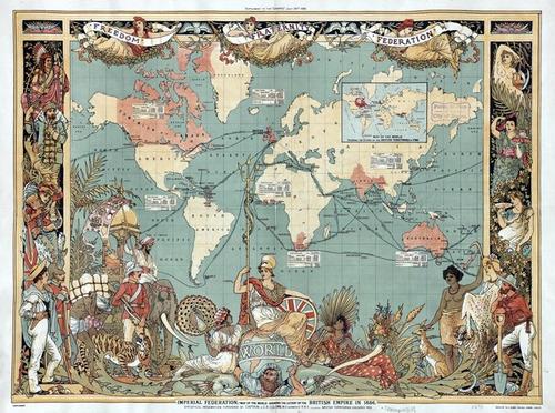 solamente impresión, de mapamundi en tela canvas 121x90