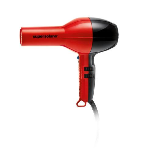 solano supersolano profesional, secador de pelo, rojo/negro