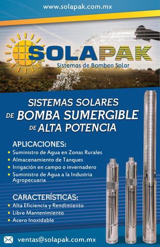 solapak bomba solar de 3/4  , 80 metros  ,24 vdc