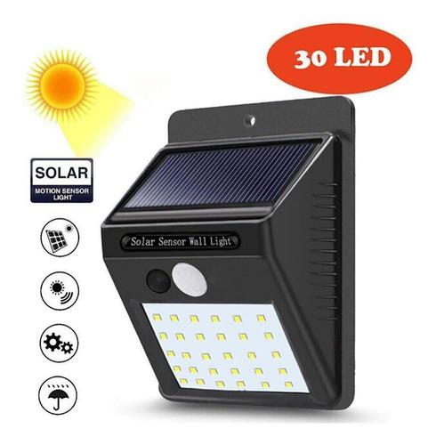 solar 30 led foco set x3