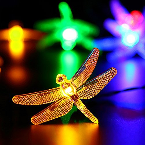solar al aire libre navidad luces de cadena por apexpower,