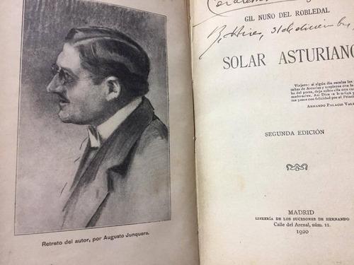 solar asturiano. gil nuño del robledal. dedicado