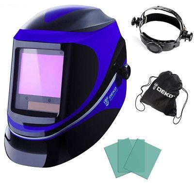 oscurecimiento autom/ático azul M/áscara de soldar para cascos de soldadura Terrarum