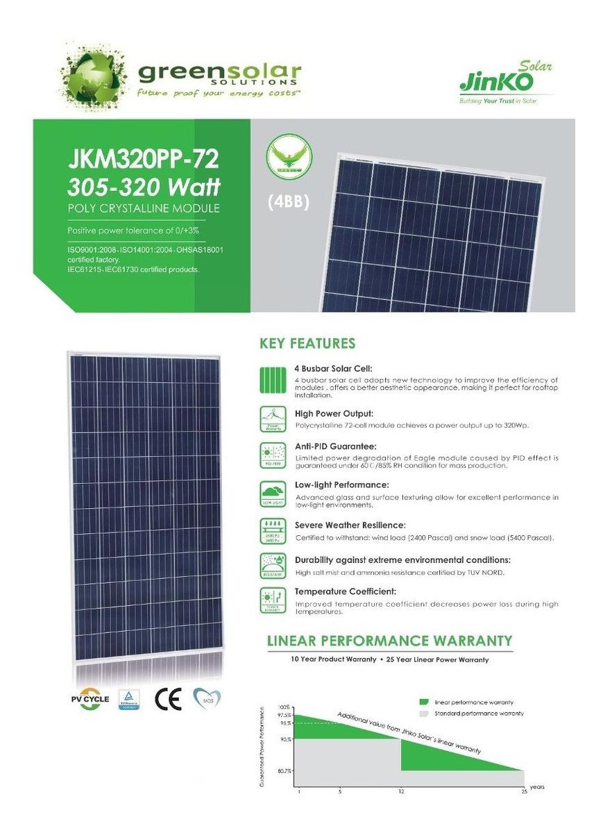 Panel Solar 320w Jinko Solar Con Retie