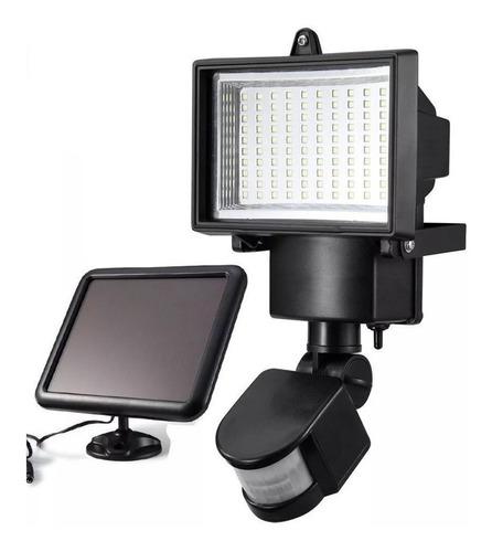 solar foco 60 led con panel iluminacion ml1696