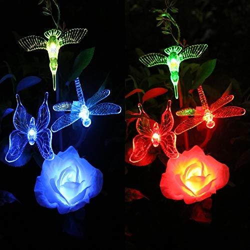 Solar Garden Stake Lights Outdoor With