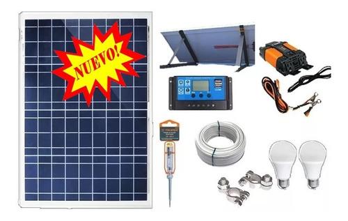 solar kit captura 650w/día panel para tv led celular bateria