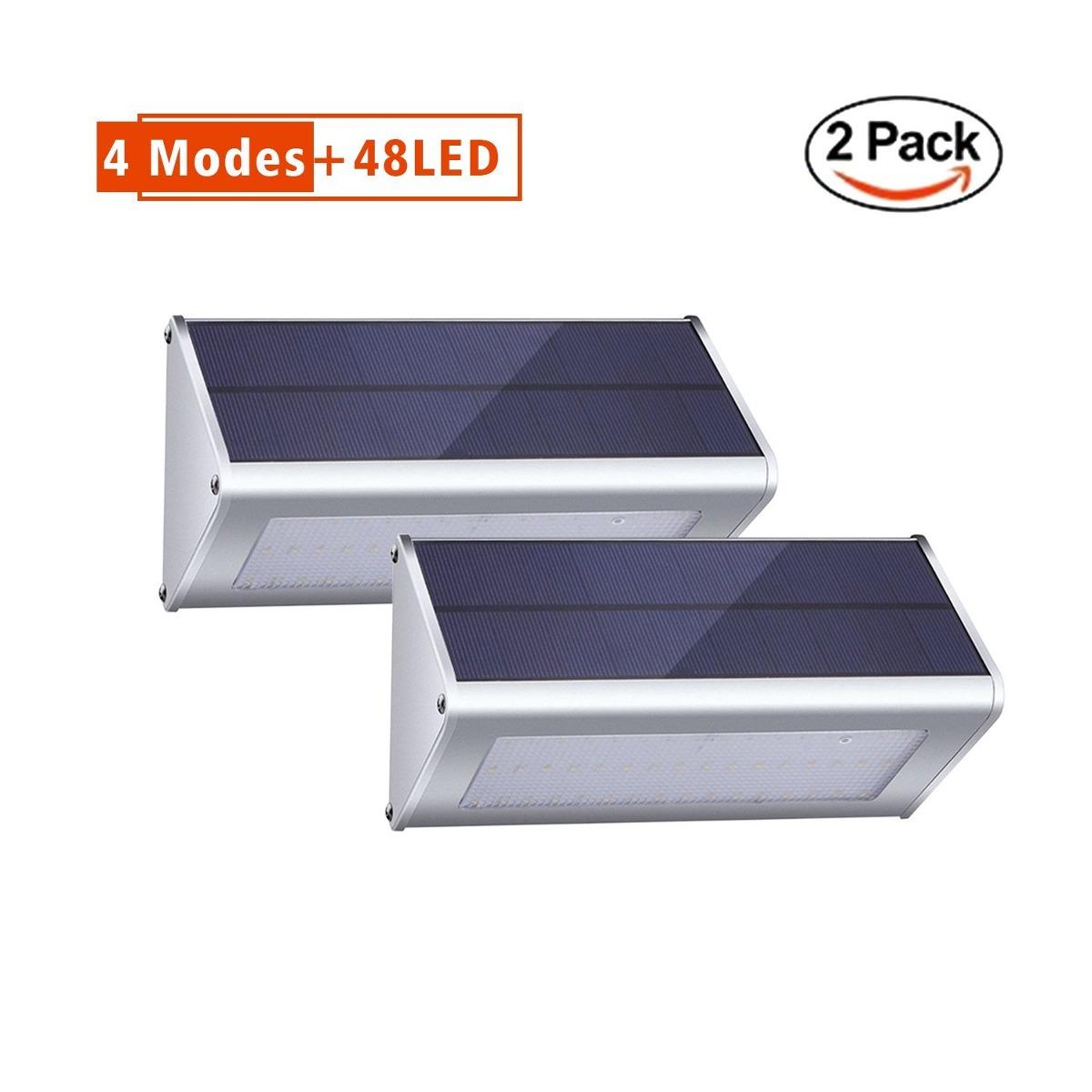 Solar lights outdoor radar motion sensor with 4 modes 48 led cargando zoom aloadofball Images