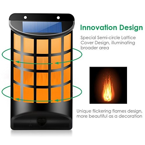 solar luzes à prova d'água cintilação chamas sensor