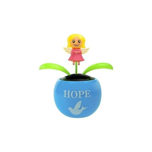 solar powered dancing angel en la flor + envio gratis