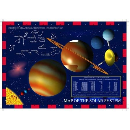 solar system map jigsaw puzzle 100pc
