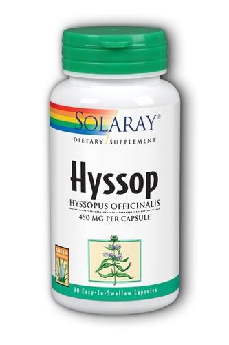 solaray hisopo 90 cápsulas