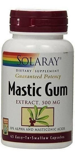 solaray mastic gum extract 500 mg - 45 capsulas