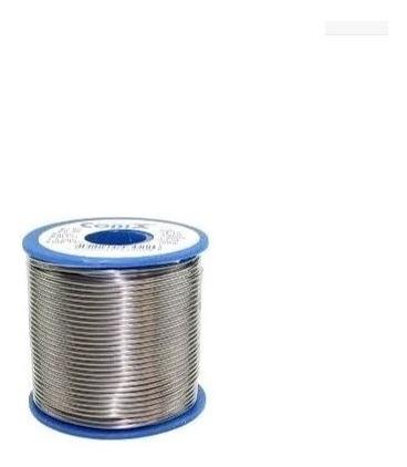 solda estanho para eletrônica fio 1mm 60x40 500gr azul