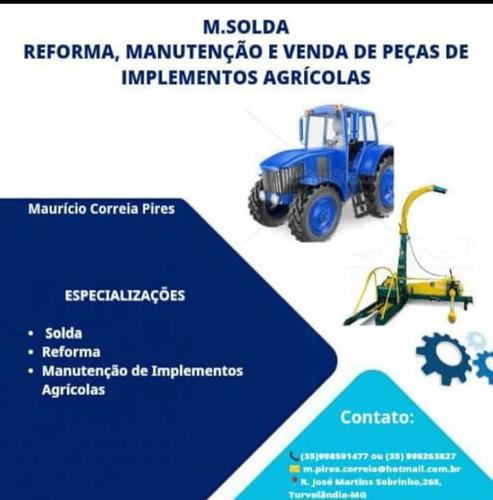 solda manutenção e reforma de implementos agricola.