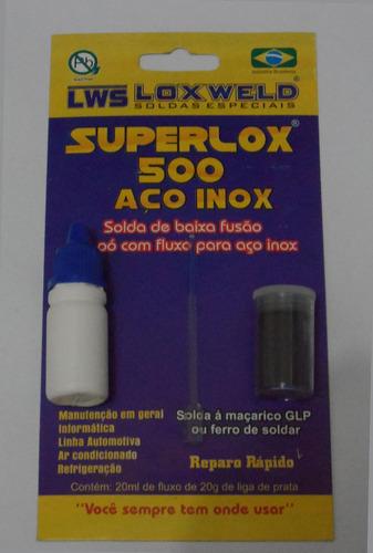 solda para aço inox superlox 500
