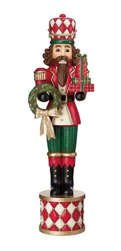 soldado cascanueces gigante 1.8m adorno de navidad c/ guirnaldas y regalos