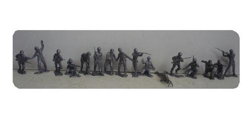 soldado en batalla - soldadito de juguete escala copia marx