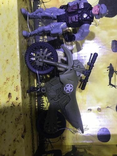 soldado juguete set guerra moto incluye vehículo  niños