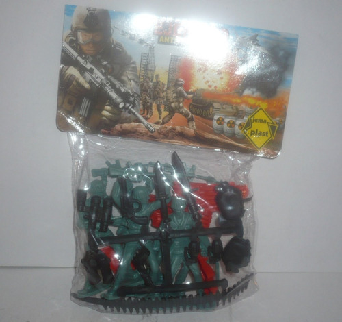 soldado militar 2 paquetes 1 con accesorios - juguete escala