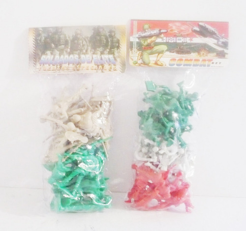 soldado militar 2 paquetes soldadito maqueta juguete bootleg
