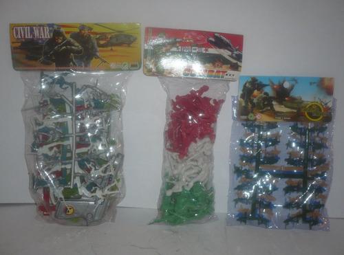 soldado militar 3 paquetes - soldaditos de juguete escala
