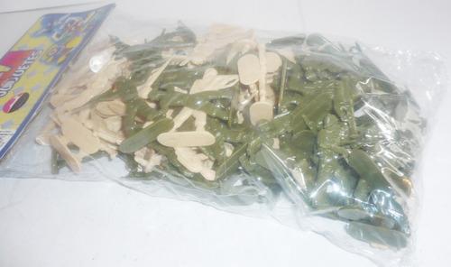 soldado militar paquete con 100 - soldadito d juguete impala