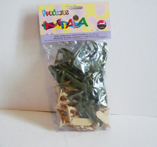 soldado militar paquete con 50 - soldadito de juguete escala