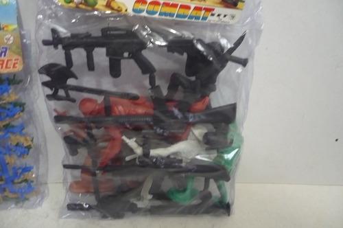 soldado militar - paquete con 6 soldados y armas de juguete