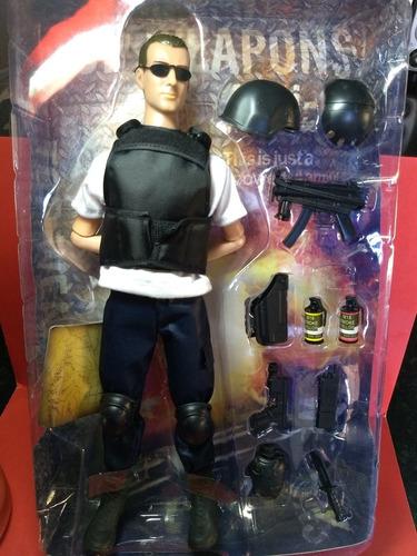 soldado miltar forças especiais, tam. 30 cm com articulações