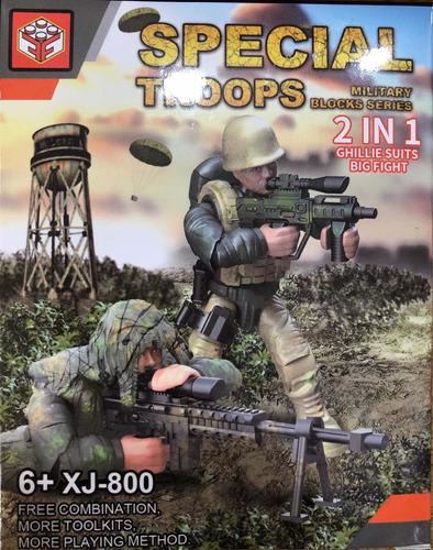 soldado para armar ladrillos bloques pumy july toys