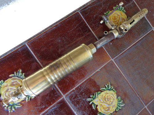 soldador antiguo soplete bronce