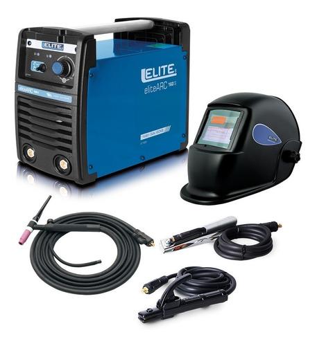 soldador elite 160 amp, careta fotosensible elite y antorcha