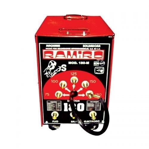 soldadora 180 amps roja ramiro + cables 10m
