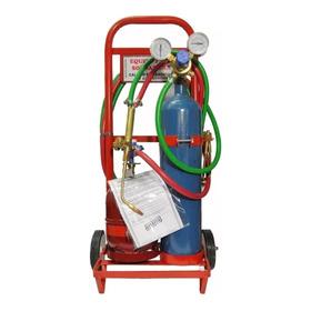Soldadora Autogena Oxigas 1/2m3 + 2kg Para Refrigeración