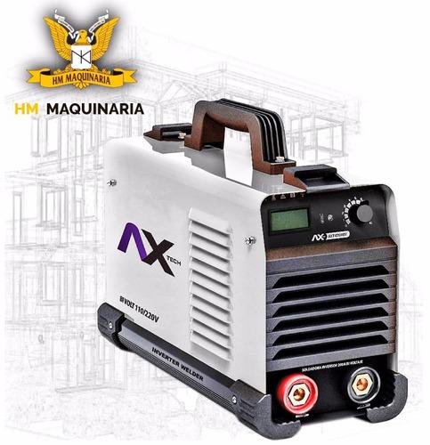 soldadora bi-voltaje 110v y 220v, electrodos máximo de 1/8 .