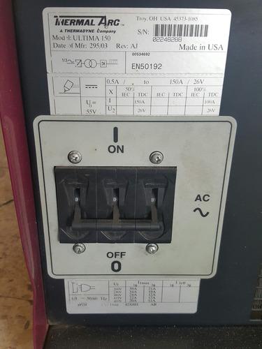 soldadora de plasma thermal arc dc inverter última 150