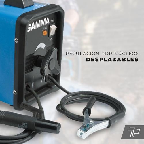 soldadora electrica gamma maquina soldar + electrodos +  escuadras +  guantes garantia 2 años