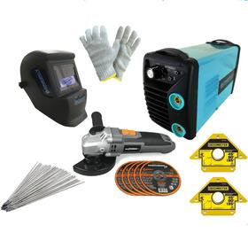 Soldadora Energy 200a Kit Talle Amoladora  Mascara + Regalos