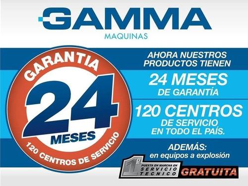 soldadora gamma turbo 265 210a mono-bifásica + mascara st1