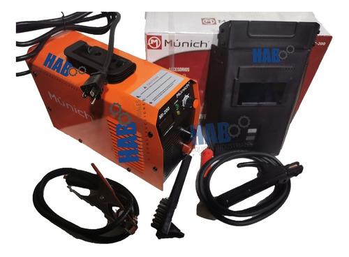 soldadora inversor 200 amp 110/220v con careta + regalo