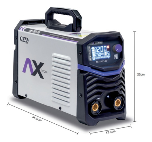 soldadora inversora axtech 200abv pantalla lcd axt-207lcd