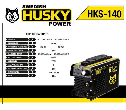 soldadora inversora maquina 130amp 110/220v hks140 husky