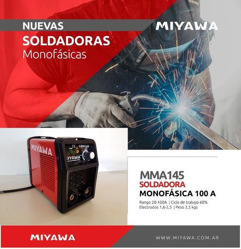 soldadora inverter 100 amp mma145 miyawa 2,50mm + envío