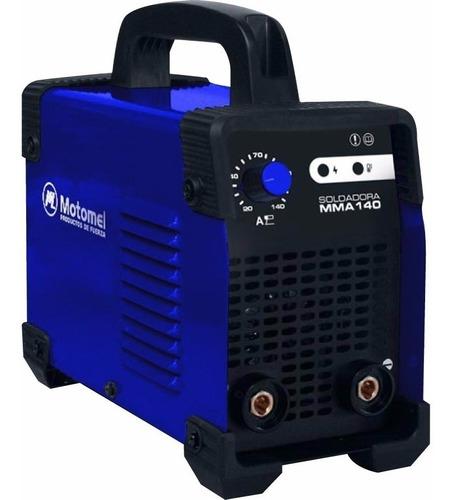 soldadora inverter 140 amp motomel igbt 4mm + envio
