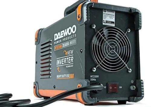 soldadora inverter 200 amp daewoo display digital c/ mascara