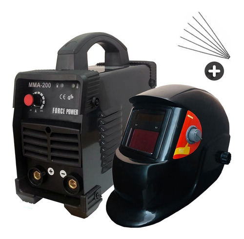 soldadora inverter 200 amp pro + careta + electrodo garantia